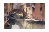 A Quiet Canal in Venice, 1990 Giclee Print by Trevor Chamberlain