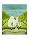 The American Church Giclee Print by Mark Baring