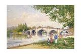 A Summer's Day, Richmond Bridge Giclee Print by John Sutton