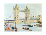 Tower Bridge, London Giclee Print by Gillian Lawson