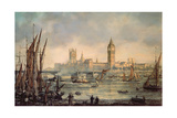 The Houses of Parliament and Westminster Bridge Giclee Print by Richard Willis