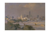 Sultry Afternoon in August, King's Reach, 1988 Giclee Print by Trevor Chamberlain