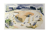 Harvesting, Printed at the Baynard Press, for School Prints Ltd. Giclee Print by John Northcote Nash