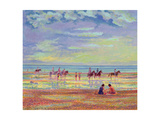Ponies on Ferring Beach Giclee Print by Robert Tyndall
