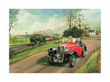 Racing the Train, 1995 Giclee Print by Richard Wheatland