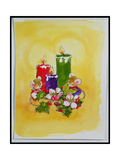 Mice with Candles Giclee Print by Diane Matthes