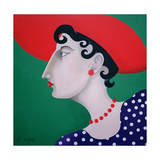 Women in Profile Series, No. 16, 1998 Giclee Print by John Wright