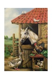 Farmyard Friends Giclee Print by Carl Donner