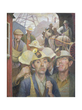 St. Just Tin Miner, 1935 Giclee Print by Harold Harvey