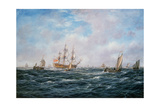 British Man-O-War and Other Craft, C.1740 Giclee Print by Richard Willis