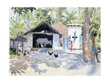 The Backwaters, Kerala, India, 1991 Giclee Print by Lucy Willis