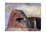 Elijah Fed by a Raven in the Desert I, 1991 Giclee Print by Albert Herbert