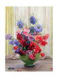 Sweet Peas and Nigella, C.1936 Giclee Print by James Clark