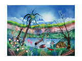 The Garden of Eden Giclee Print by Herbert Hofer