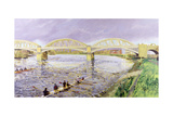 River Thames at Barnes Giclee Print by Sarah Butterfield