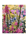 Garden with Foxgloves Giclee Print by Christopher Ryland