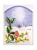 The Robin Giclee Print by Ursula Hodgson