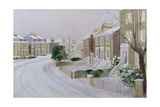 Stockwell under Snow Giclee Print by Sarah Butterfield
