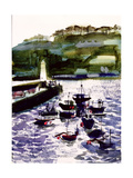 St. Ives Harbour, High Tide Giclee Print by Felicity House
