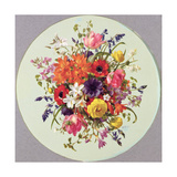 A Circular Arrangement of Flowers Giclee Print by Albert Williams
