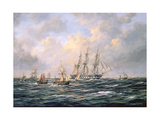 Convoy of East Indiamen Amid Fishing Boats Giclee Print by Richard Willis
