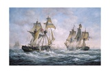 "Action Between U.S. Sloop-Of-War ""Wasp"" and H.M. Brig-Of-War ""Frolic"", 1812 Giclee Print by Richard Willis"