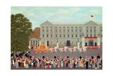 State Coach Leaving Buckingham Palace Giclee Print by Vincent Haddelsey