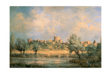 Windsor Castle: from the River Thames Giclee Print by Richard Willis