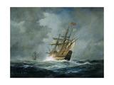 'Mary Rose' Giclée-tryk af Richard Willis