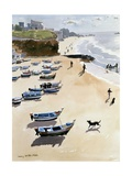 Boats on the Beach, 1986 Giclee Print by Lucy Willis
