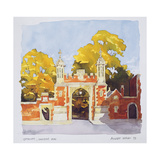 Gateway, Lincoln's Inn, 1993 Giclee Print by Annabel Wilson
