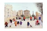 Windsor Castle Hill Giclee Print by Gillian Lawson