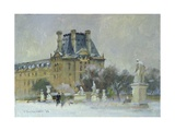 Snow in the Tuilleries, Paris, 1996 Giclee Print by Trevor Chamberlain