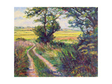 The Track to Boleyn's Farm, Kent Giclee Print by Robert Tyndall