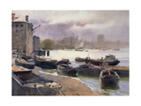 A Cluster of Lighters, River Thames, 1993 Giclee Print by Trevor Chamberlain