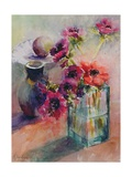 Anemones in Green Glass Vase, 2002 Giclee Print by Karen Armitage