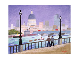 St.Paul's from the River Giclee Print by William Cooper