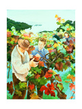 Grape Pickers, 1996 Giclee Print by Cristiana Angelini
