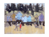 Beach Huts at Wells Giclee Print by Felicity House