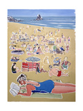 Bathers, Broadhaven Beach, Dyfed, 1995 Giclee Print by Huw S. Parsons