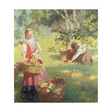 Apples, 1912 Giclee Print by Harold Harvey