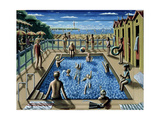 The Swimming Pool, 1989 Giclee Print by P.J. Crook