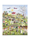 A Very Happy Farming Village Giclee Print by Gordana Delosevic