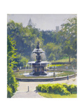 The Bethesda Fountain, Central Park, 1996 Giclee Print by Julian Barrow
