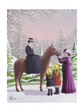 Lady on Horseback Giclee Print by Peter Szumowski