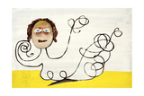 Girl with a Curly Line, C.1945 Giclee Print by Sir Sidney Nolan