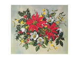 Christmas Flowers Giclee Print by Albert Williams