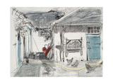 Farmyard Hens Giclee Print by Felicity House