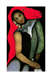Man/Woman and a Red Horse, 1999 Giclee Print by Stevie Taylor