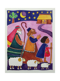 The Shepherds Journey to Bethlehem Giclee Print by Cathy Baxter